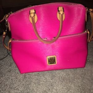 Hot pink dooney and bourke purse